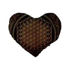 Bring Me The Horizon Cover Album Gold Standard 16  Premium Heart Shape Cushions