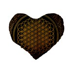 Bring Me The Horizon Cover Album Gold Standard 16  Premium Heart Shape Cushions Back