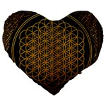 Bring Me The Horizon Cover Album Gold Large 19  Premium Heart Shape Cushions Front