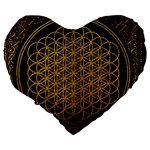 Bring Me The Horizon Cover Album Gold Large 19  Premium Heart Shape Cushions Back