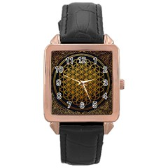 Bring Me The Horizon Cover Album Gold Rose Gold Leather Watch