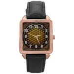 Bring Me The Horizon Cover Album Gold Rose Gold Leather Watch  Front