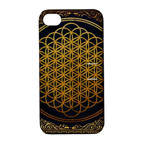 Bring Me The Horizon Cover Album Gold Apple iPhone 4/4S Hardshell Case with Stand