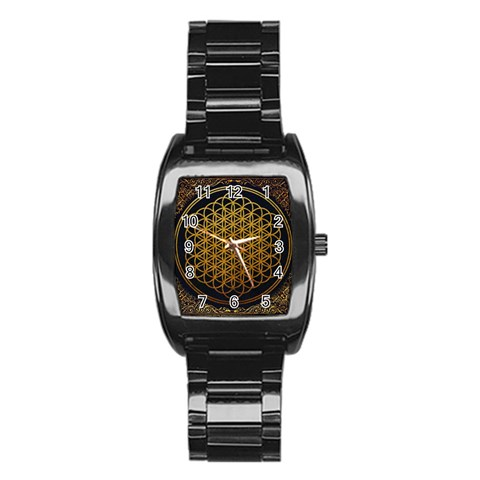 Bring Me The Horizon Cover Album Gold Stainless Steel Barrel Watch