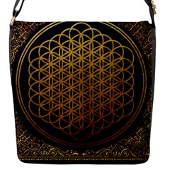 Bring Me The Horizon Cover Album Gold Flap Messenger Bag (S)