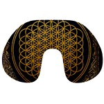 Bring Me The Horizon Cover Album Gold Travel Neck Pillows Back