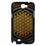 Bring Me The Horizon Cover Album Gold Samsung Galaxy Note 2 Case (Black) Front