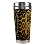 Bring Me The Horizon Cover Album Gold Stainless Steel Travel Tumblers Left