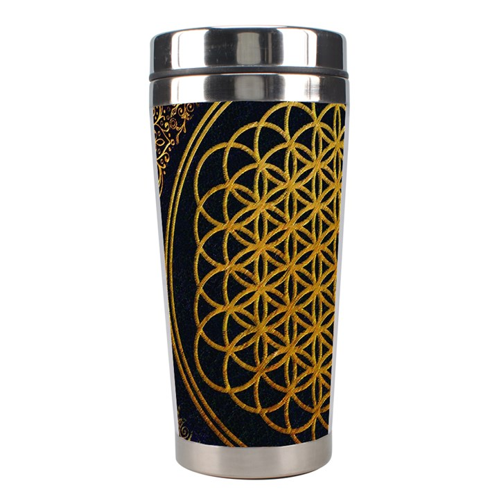Bring Me The Horizon Cover Album Gold Stainless Steel Travel Tumblers