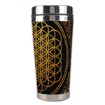 Bring Me The Horizon Cover Album Gold Stainless Steel Travel Tumblers Right