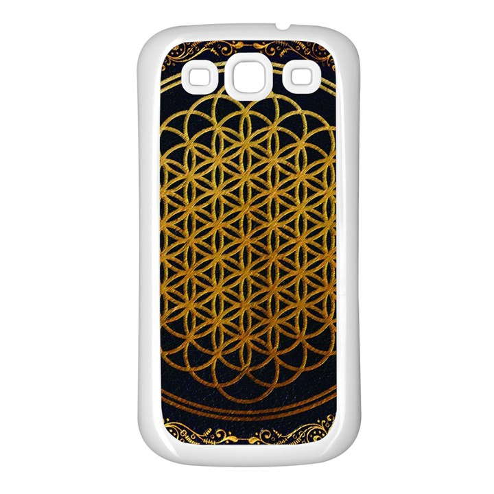 Bring Me The Horizon Cover Album Gold Samsung Galaxy S3 Back Case (White)