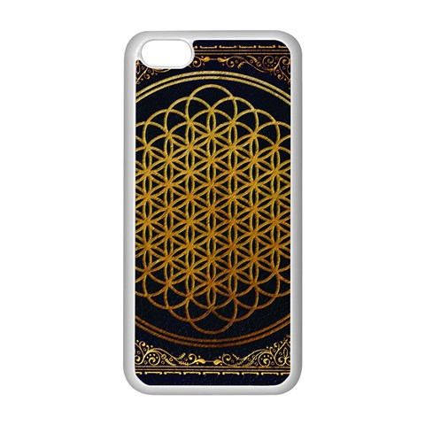 Bring Me The Horizon Cover Album Gold Apple iPhone 5C Seamless Case (White)
