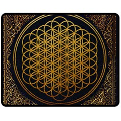 Bring Me The Horizon Cover Album Gold Double Sided Fleece Blanket (Medium)