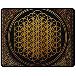 Bring Me The Horizon Cover Album Gold Double Sided Fleece Blanket (Medium)  60 x50 Blanket Back