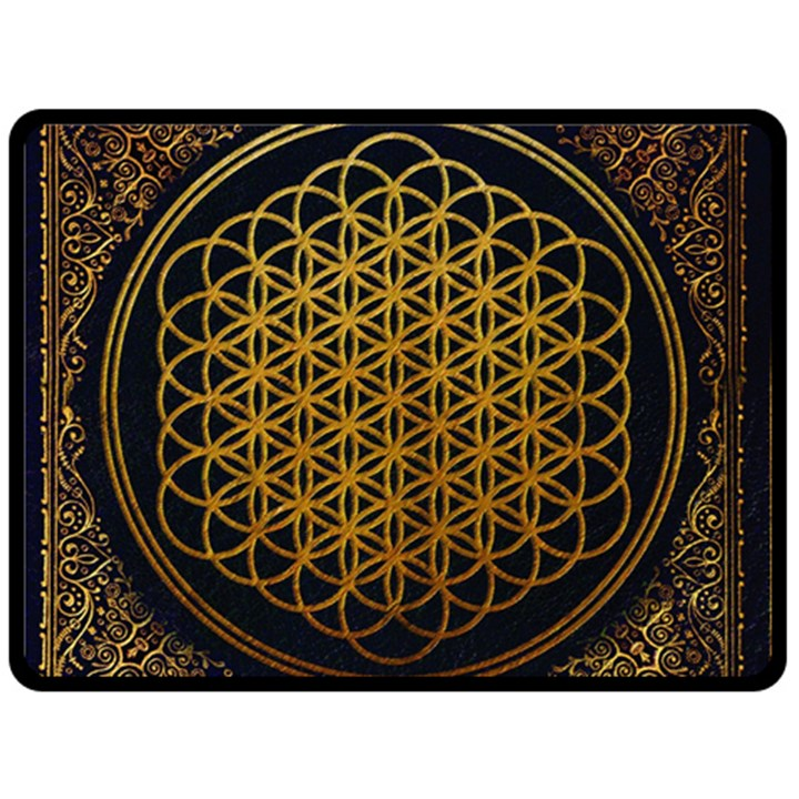 Bring Me The Horizon Cover Album Gold Double Sided Fleece Blanket (Large)