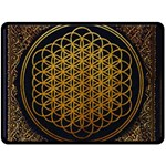 Bring Me The Horizon Cover Album Gold Double Sided Fleece Blanket (Large)  80 x60 Blanket Back