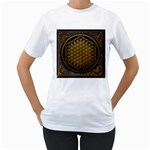 Bring Me The Horizon Cover Album Gold Women s T-Shirt (White)  Front