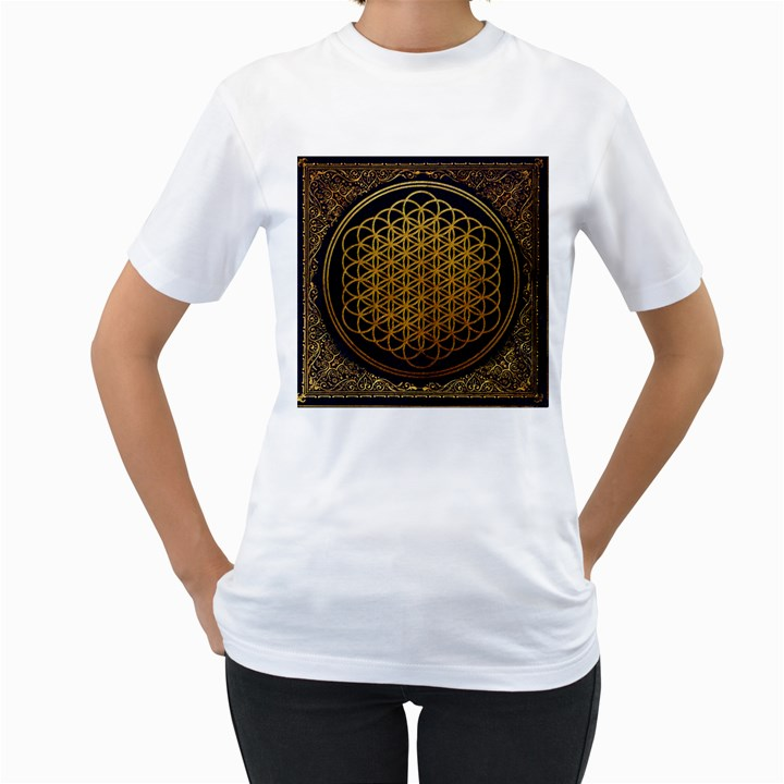 Bring Me The Horizon Cover Album Gold Women s T-Shirt (White)