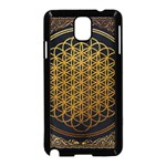 Bring Me The Horizon Cover Album Gold Samsung Galaxy Note 3 Neo Hardshell Case (Black) Front