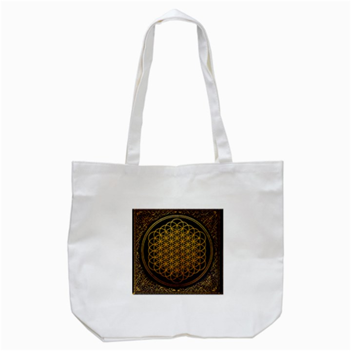 Bring Me The Horizon Cover Album Gold Tote Bag (White)