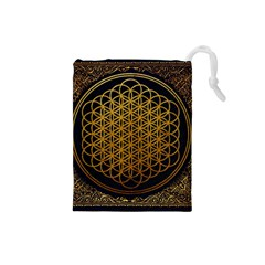Bring Me The Horizon Cover Album Gold Drawstring Pouches (Small)