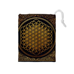 Bring Me The Horizon Cover Album Gold Drawstring Pouches (Medium)