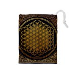 Bring Me The Horizon Cover Album Gold Drawstring Pouches (Medium)  Front