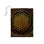 Bring Me The Horizon Cover Album Gold Drawstring Pouches (Medium)  Back