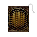 Bring Me The Horizon Cover Album Gold Drawstring Pouches (Large)  Front
