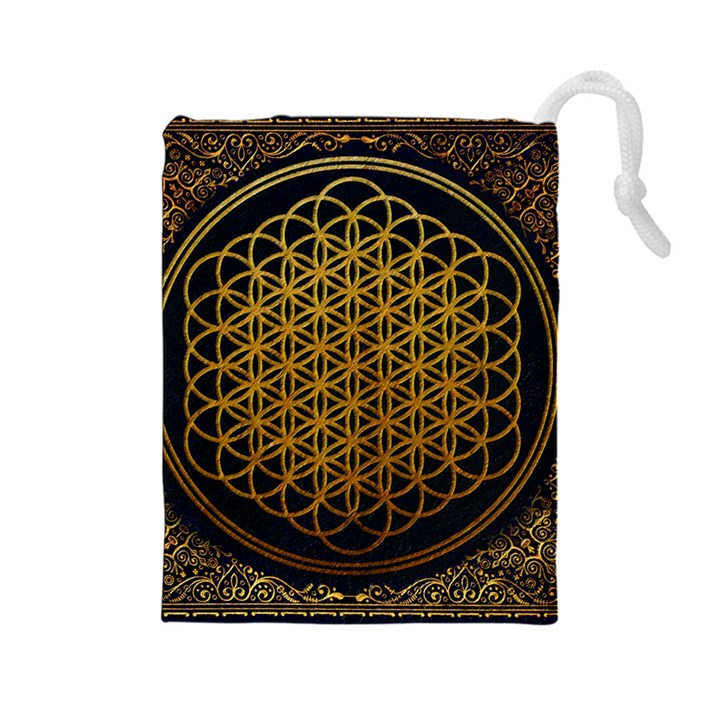 Bring Me The Horizon Cover Album Gold Drawstring Pouches (Large)