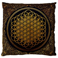 Bring Me The Horizon Cover Album Gold Large Flano Cushion Case (One Side)