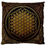 Bring Me The Horizon Cover Album Gold Large Flano Cushion Case (One Side) Front
