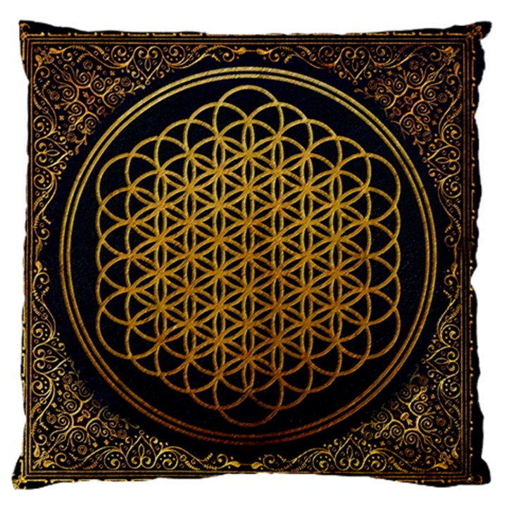 Bring Me The Horizon Cover Album Gold Large Flano Cushion Case (Two Sides)