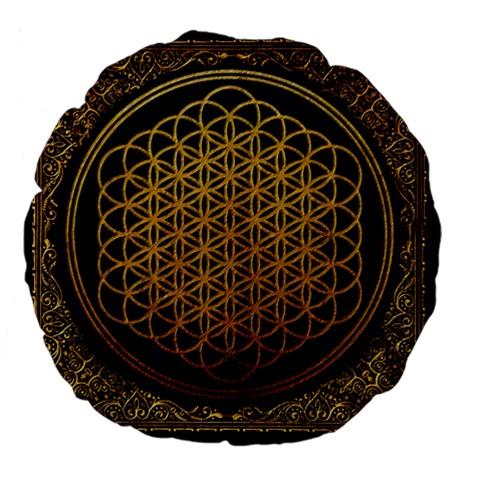 Bring Me The Horizon Cover Album Gold Large 18  Premium Flano Round Cushions