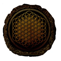 Bring Me The Horizon Cover Album Gold Large 18  Premium Flano Round Cushions