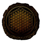 Bring Me The Horizon Cover Album Gold Large 18  Premium Flano Round Cushions Back