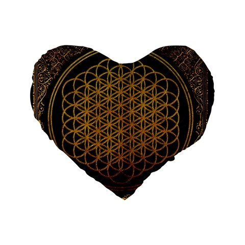 Bring Me The Horizon Cover Album Gold Standard 16  Premium Flano Heart Shape Cushions