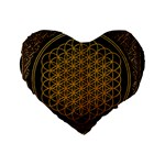 Bring Me The Horizon Cover Album Gold Standard 16  Premium Flano Heart Shape Cushions Front