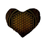 Bring Me The Horizon Cover Album Gold Standard 16  Premium Flano Heart Shape Cushions Back