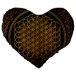 Bring Me The Horizon Cover Album Gold Large 19  Premium Flano Heart Shape Cushions Front