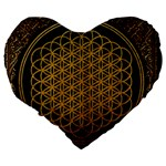 Bring Me The Horizon Cover Album Gold Large 19  Premium Flano Heart Shape Cushions Back
