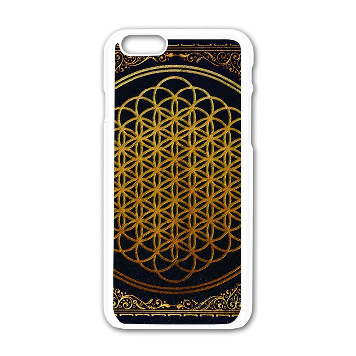Bring Me The Horizon Cover Album Gold Apple iPhone 6/6S White Enamel Case