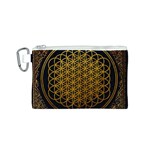 Bring Me The Horizon Cover Album Gold Canvas Cosmetic Bag (S) Front