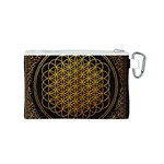 Bring Me The Horizon Cover Album Gold Canvas Cosmetic Bag (S) Back