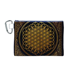Bring Me The Horizon Cover Album Gold Canvas Cosmetic Bag (M)