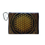Bring Me The Horizon Cover Album Gold Canvas Cosmetic Bag (M) Front