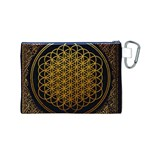 Bring Me The Horizon Cover Album Gold Canvas Cosmetic Bag (M) Back