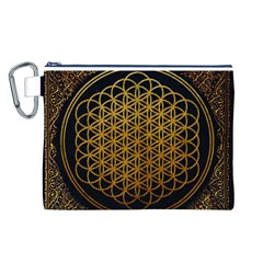 Bring Me The Horizon Cover Album Gold Canvas Cosmetic Bag (L)