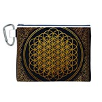 Bring Me The Horizon Cover Album Gold Canvas Cosmetic Bag (L) Front