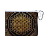 Bring Me The Horizon Cover Album Gold Canvas Cosmetic Bag (L) Back